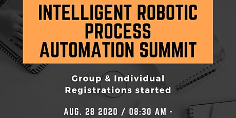 Intelligent Robotic Process Automation Summit - NEXT FRONTIER FOR BUSINESS tickets