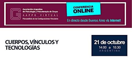 CURSO ONLINE - Lic. Gustavo Del Cioppo - Cuerpos, vínculos y tecnologías entradas