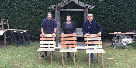 Pallet Upcycling - make a chair to take away! 10am-4pm tickets