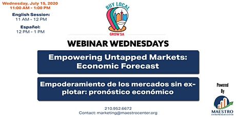Webinar Wednesday   Empowering Untapped Markets: Economic Forecast tickets