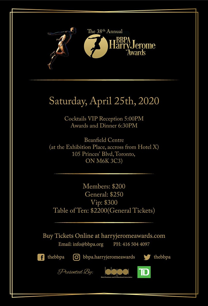 38th Annual BBPA Harry Jerome Awards - Decade Leaders image