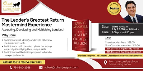 CANCELED   -  THE LEADERS GREATEST RETURN MASTERMIND EXPERIENCE tickets