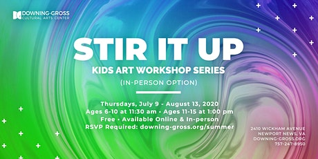 Stir It Up: Free Summer Art Workshops for Kids (In-Person) tickets