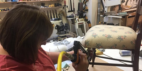 Day course - Beginner's upholstery - strip, pad and cover a dining chair tickets