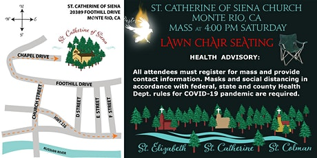 LAWN CHAIR Seating 4:00 PM Mass St. Catherine of Siena tickets