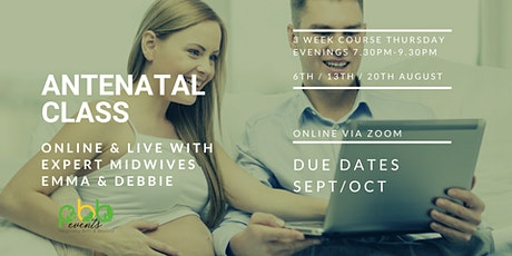 Antenatal Classes for Due dates in September/October tickets
