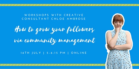How to Grow Your Followers Via Community Management tickets