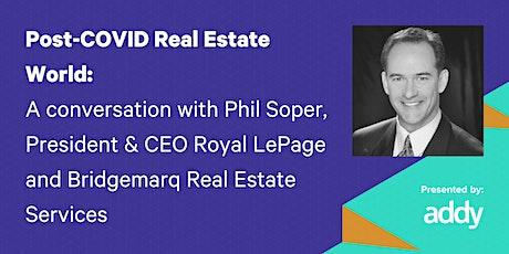 Webinar | Post-COVID Real Estate World tickets