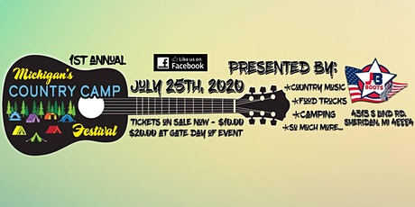 Michigan's Country Camp Festival 2020 tickets