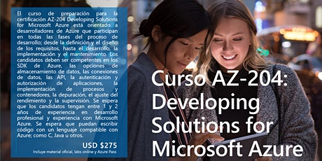 Curso AZ-204: Developing Solutions for Microsoft Azure entradas