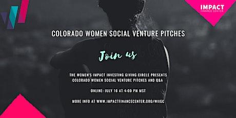 Colorado Women Social Venture Pitches tickets