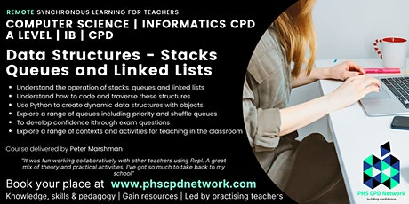 A Level / AP / IB Computer Science - Data structures stacks, queues, lists tickets