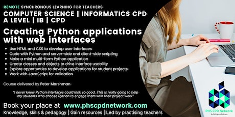 A-Level / AP / IB Computer Science - Creating Python applications web GUIs tickets