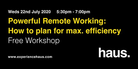 Powerful Remote Working: How to Plan for Maximum Efficiency tickets
