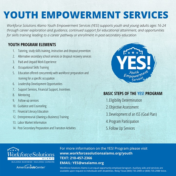 YES! Program (Youth 16-24): Discover Jobs & Careers Info Session image