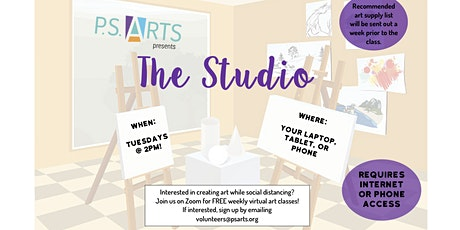 The Studio! - FREE Virtual Visual Arts & Movement Classes for 55+ tickets