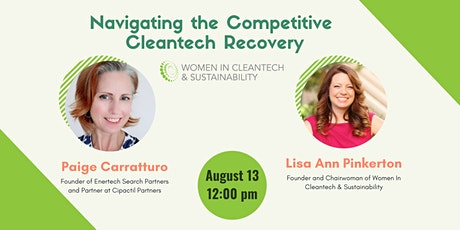 Women in Cleantech - Navigating the Competitive Cleantech Recovery tickets