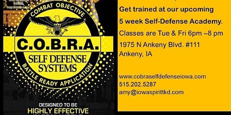 5 Week COBRA Self-Defense Academy tickets