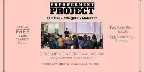 Developing a Personal Mission: An Empowerment Project tickets