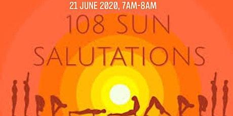 108 Sun Salutation 21 Sunday,  via zoom biglietti