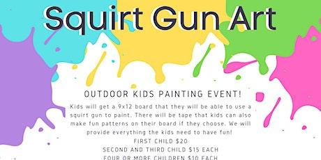 Squirt Gun Art - Outdoor Kids Event tickets