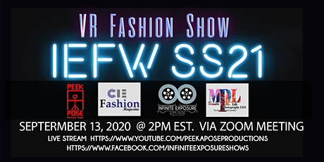 New York Fashion Week IEFW Virtual Fashion Show tickets