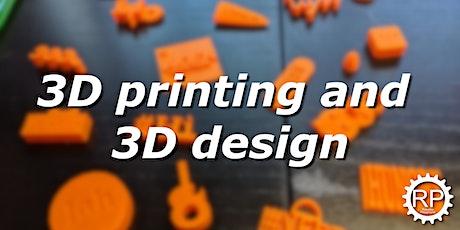 Robotics Playground's Virtual 3D Design and Printing! (Secondary) biglietti