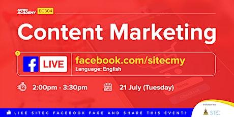 SITEC LIVE STREAMING - EC Class 304: Content Marketing bilhetes