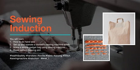 Sewing Induction Class 2020: Machine Operation and Safety tickets