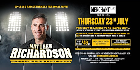 Matthew Richardson LIVE at Merchant Lane! tickets