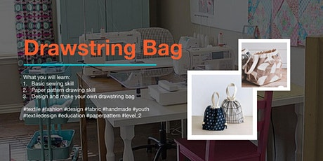 Textile Beginner Class (Drawstring Bag) tickets