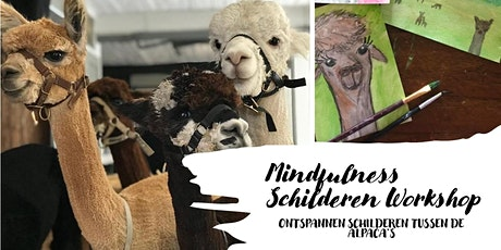 Alpaca Mindfulness Schilderen Workshop tickets