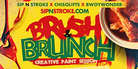 BRUSH 'N BRUNCH | (3pm - 7pm) | Sip and Paint party | Food Included tickets