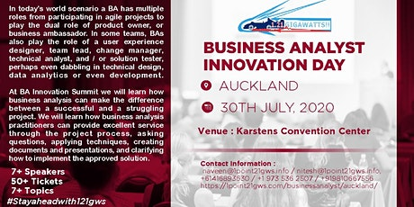 Business Analyst Innovation Day in Auckland on 30 July tickets