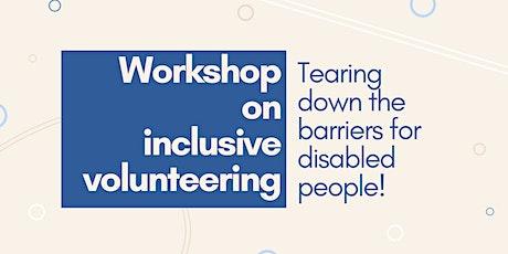 workshop on inclusive volunteering tickets