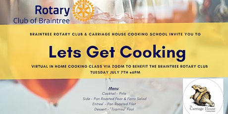 THE JOY OF ITALIAN COOKING online cooking class supporting Braintree Rotary tickets