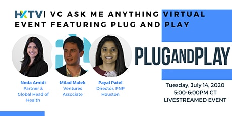 HXTV| VC Ask Me Anything Virtual Event featuring Plug and Play tickets