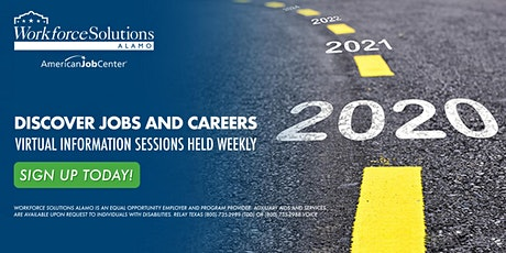 Discover Jobs & Careers: Workforce Solutions Alamo Info Session (Rural) tickets
