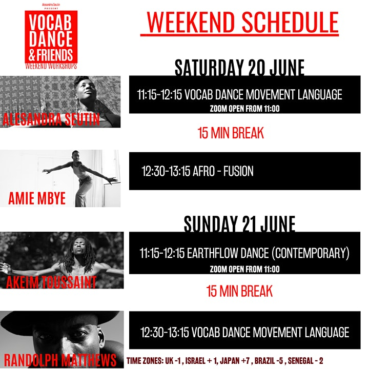 Vocab Dance & Friends Weekend Workshop Online image