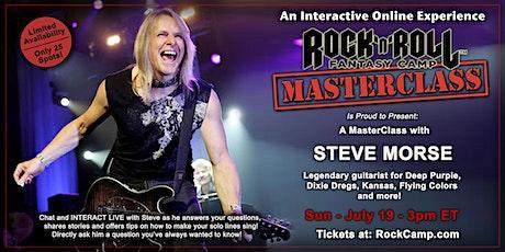 Masterclass with Steve Morse of Deep Purple! tickets