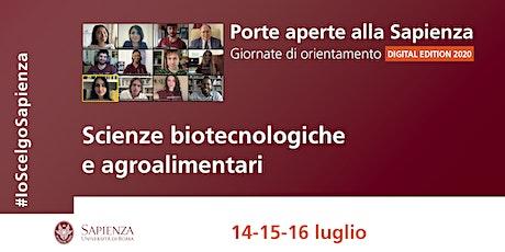 Area delle scienze biotecnologiche e agroalimentari biglietti