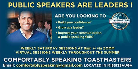 Public Speaking & Leadership Program @ Comfortably Speaking Toastmasters billets