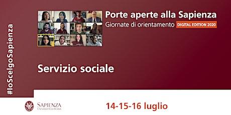 Sapienza Porte Aperte - Servizio Sociale biglietti