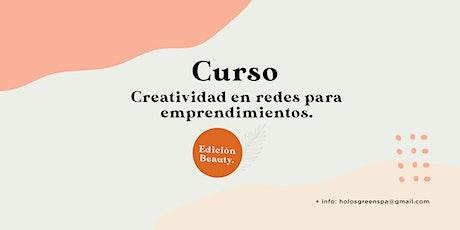 Curso Creatividad para Emprendimientos - Edición Beauty entradas