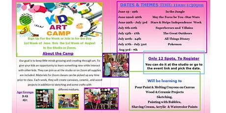 The Great Outdoors Summer Art Camp from Home, Age Group 6-12 tickets