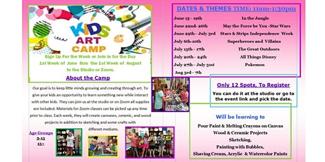 Pokemon Summer Art Camp From Home, Age 6-12 years tickets