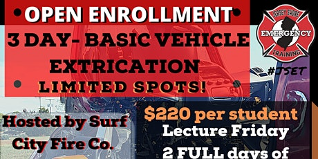 Basic Vehicle Extrication Open Enrollment tickets
