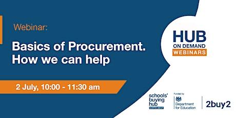 Hub on Demand webinars: Basics of Procurement and how we can help tickets