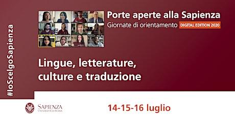 Area delle lingue, letterature, culture e traduzione biglietti