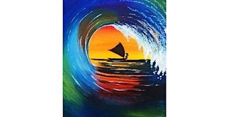 Paint at Your Own Pace from Home  - Rainbow Wave tickets